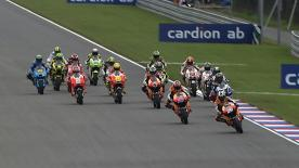 The Repsol Honda rider seized control of the MotoGP race at the Cardion ab Grand Prix České republiky race, with Dovizioso second and Simoncelli capturing his first podium of his premier class history.