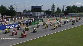 The Italian Speed Master rider emerged the victor out of a hard fought, four man battle for the win at the Cardion ab Grand Prix České republiky race, beating Márquez and Bradl across the line.