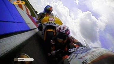 Brno 2011 - Moto2 - Race - Action - Marquez and De Angelis