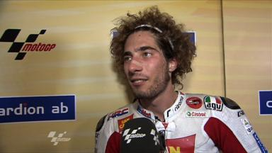Simoncelli elated with first MotoGP podium