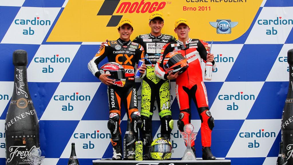 Marc Marquez, Andrea Iannone, Stefan Bradl, Catalunya-Caixa Repsol, Speed Master, Veissmann Kiefer Racing, Brno RAC