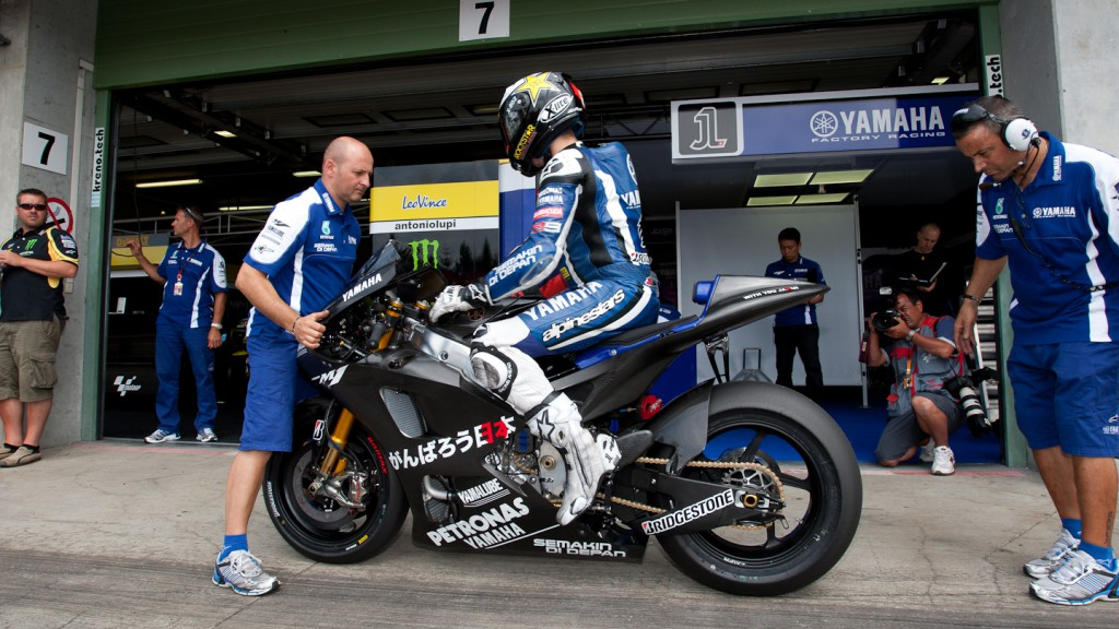Jorge Lorenzo, Yamaha Factory Racing, Brno Test