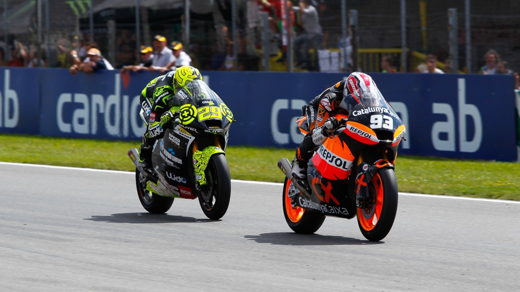 Marc Marquez, Andrea Iannone, Team CatalunyaCaixa, Speed Master, Brno RAC