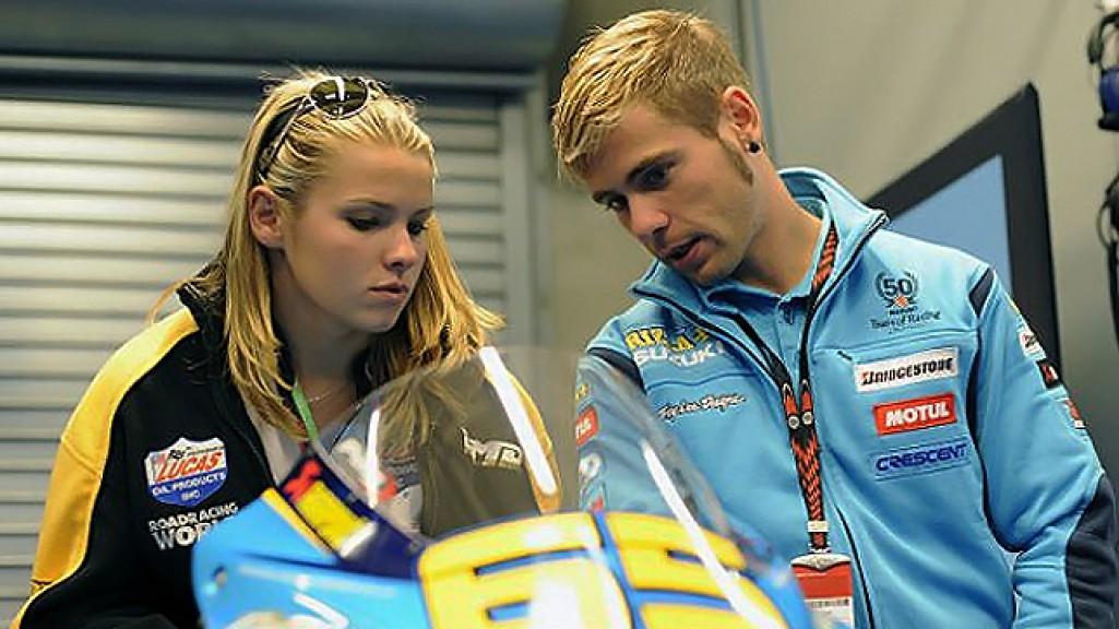 Elena Myers, Alvaro Bautista, Rizla Suzuki MotoGP