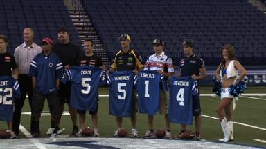 MotoGP riders get a taste of NFL action