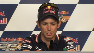 2011 - Indianapolis - MotoGP - Press Conference - Casey Stoner