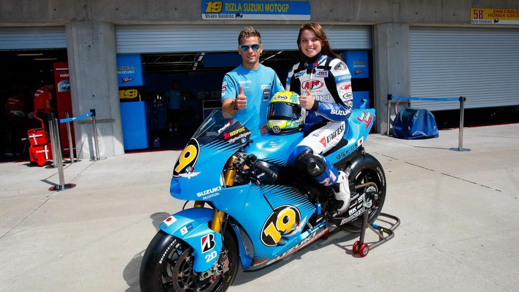 Alvaro Bautista, Elena Myers, Rizla Suzuki MotoGP
