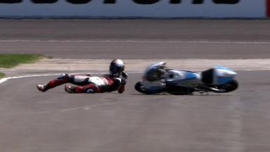 Indianapolis 2011 - 125cc - FP2 - Action - Sturla Fagerhaug - Crash