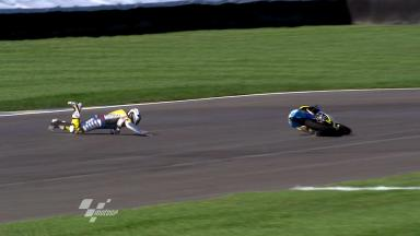 Indianapolis 2011 - 125cc - FP1 - Action - Harry Stafford - Crash