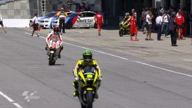 Casey Stoner was the fastest man on the opening day of the Red Bull Indianapolis Grand Prix weekend. Ben Spies and Dani Pedrosa followed in second and third in the times.