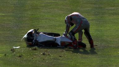 Indianapolis 2011 - 125cc - FP3 - Action - Danny Webb - Crash