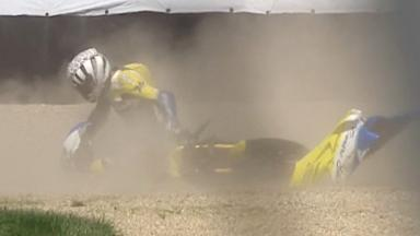 Indianapolis 2011 - 125cc - QP - Action - Harry Stafford - Crash