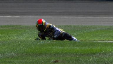 Indianapolis 2011 - Moto2 - FP3 - Action - Mike Di Meglio - Crash