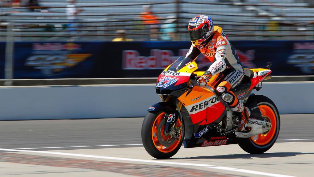 Casey Stoner, Repsol Honda, Indianapolis QP