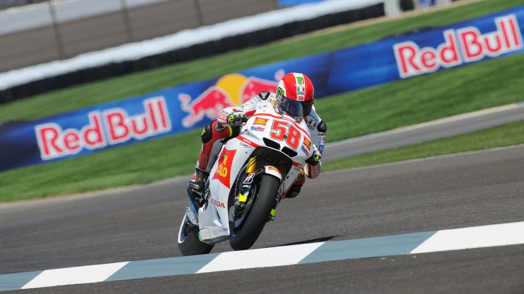 Marco Simoncelli, San Carlo Honda Gresini, Indianapolis QP