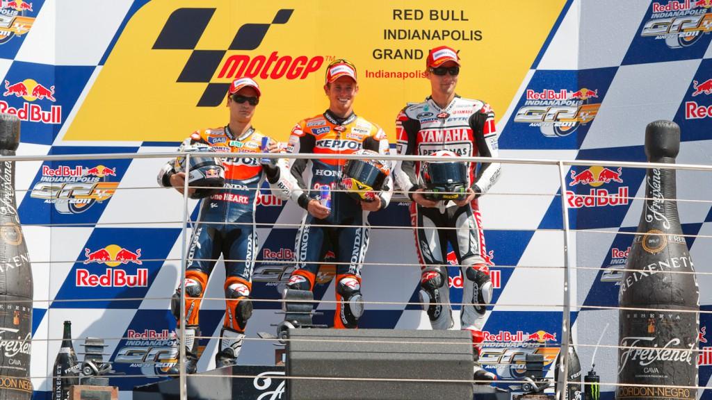 Pedrosa, Stoner, Spies, Repsol Honda Team, Yamaha Factory Racing, Indianapolis RAC