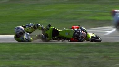 Indianapolis 2011 - 125cc - Race - Action - Adrian Martin - Crash