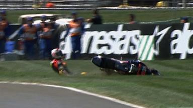Indianapolis 2011 - Moto2 - Race - Action - Alex Baldolini - Crash