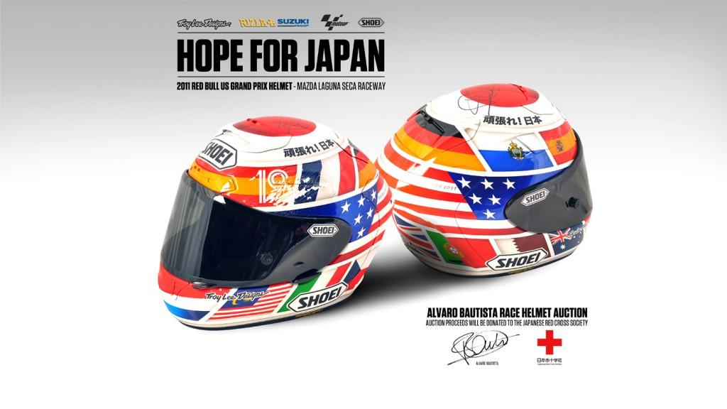 Alvaro Bautista Helmet Auction, Rizla Suzuki MotoGP