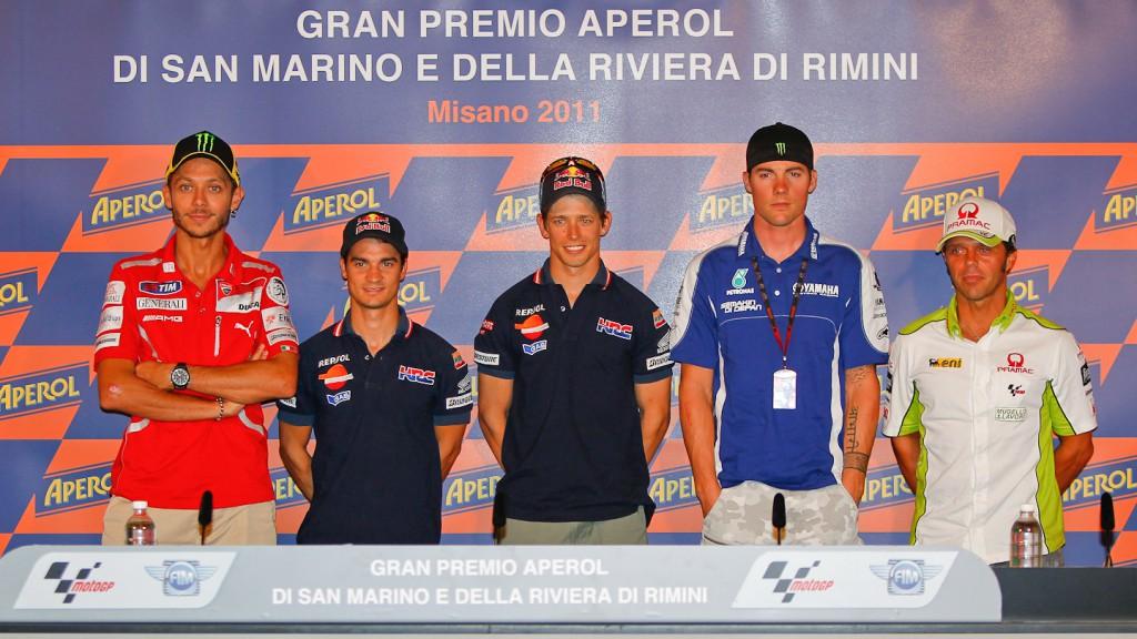 Rossi, Pedrosa, Stoner, Spies, Capirossi, Press Conference, GP Aperol di San Marino e Della Riviera di Rimini