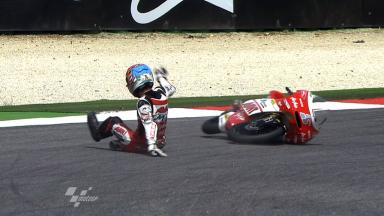 Misano 2011 - 125cc - FP2 - Action - Johan Zarco - Crash