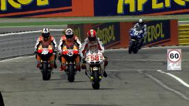 Defending Champion Jorge Lorenzo led the MotoGP field on the first day of the Gran Premio Aperol di San Marino e della Riviera di Rimini, the 13th round of the MotoGP Championship.
