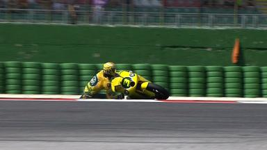 Misano 2011 - Moto2 - FP1 - Action - Simone Corsi - Crash