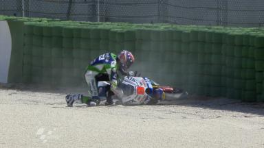Misano 2011 - Moto2 - FP1 - Action - Kenny Noyes - Crash