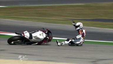 Misano 2011 - Moto2 - FP2 - Action - Ricard Cardús - Crash