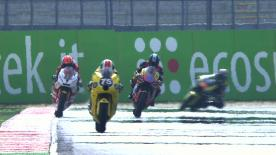 The Viessmann Kiefer Racing rider outgunned his Moto2 rivals on opening day at the Gran Premio Aperol di San Marino e della Riviera di Rimini.
