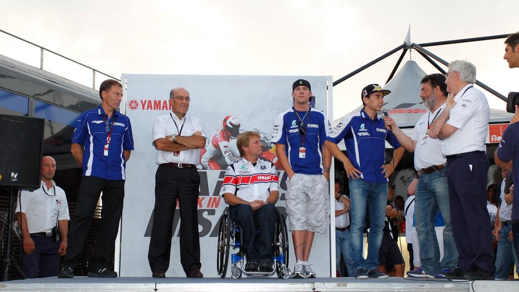 Lin Jarvis, Carmelo Ezpeleta, Wayne Rainey, Ben Spies, Jorge Lorenzo, Yamaha Factory Racing, Misano