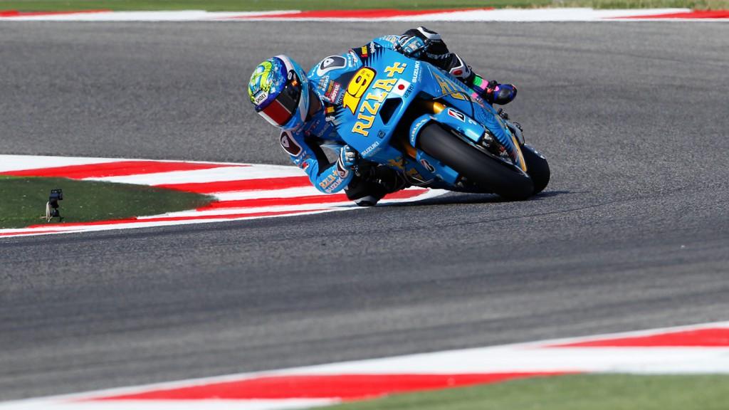 Alvaro Bautista, Elena Myers, Rizla Suzuki MotoGP, Misano QP