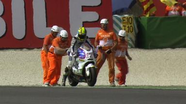 Misano 2011 - MotoGP - FP3 - Action - Karel Abraham - Crash