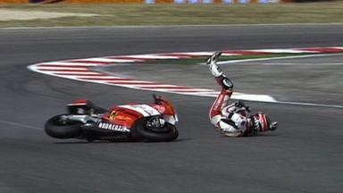 Misano 2011 - Moto2 - QP - Action - Alessandro Andreozzi - Crash