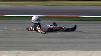 Misano 2011 - Moto2 - QP - Action - Santiago Hernandez - Crash