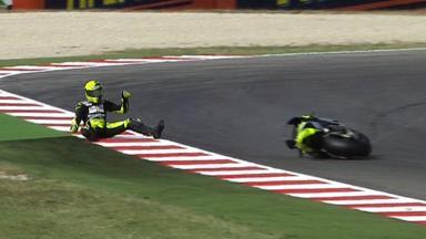 Misano 2011 - Moto2 - QP - Action - Andrea Iannone - Crash