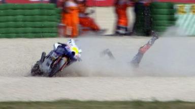 Misano 2011 - Moto2 - QP - Action - Esteve Rabat - Crash