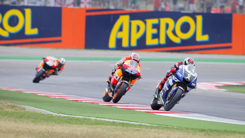 Jorge Lorenzo, Casey Stoner, Yamaha Factory Racing, Repsol Honda Team, Misano RAC