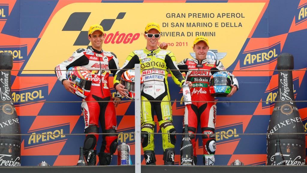Zarco, Terol, Vazquez, Avant-AirAsia-Ajo, Bankia Aspar Team 125cc, Misano RAC