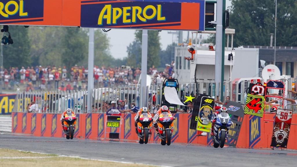 Jorge Lorenzo, Casy Stoner, Dani Pedrosa, Yamaha Factory Racing, Repsol Honda Team, Misano RAC