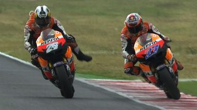 Misano 2011 - MotoGP - Race - Action - Pedrosa and Stoner