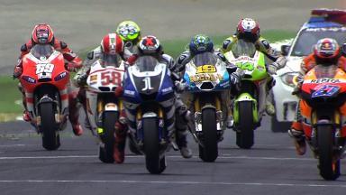 Misano 2011 - MotoGP - Race - Action - Race Start