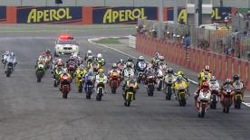 A four way battle for Moto2 victory at the Gran Premio Aperol di San Marino e della Riviera di Rimini in Misano saw Marc Márquez take the top spot ahead of Stefan Bradl and Andrea Iannone.