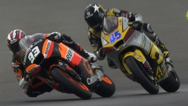 Misano 2011 - Moto2 - Race - Action - Marquez and Redding