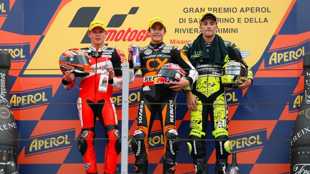 Bradl, Marquez, Iannone, Viessmann Kiefer Racing, Team CatalunyaCaixa Repsol, Speed Master, Misano RAC