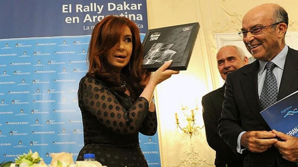 Cristina Fernández de Kirchner, Carmelo Ezpeleta - Argentinian GP Announcement, Paris