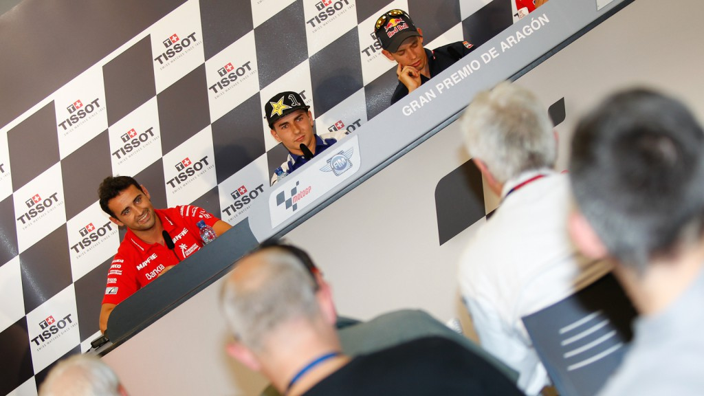 Barbera, Lorenzo, Stoner, Gran Premio de Aragón Press Conference
