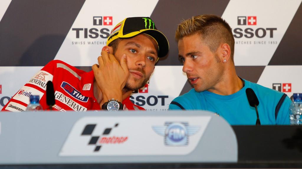 Valentino Rossi, Alvaro  Bautista Gran Premio de Aragón Press Conference