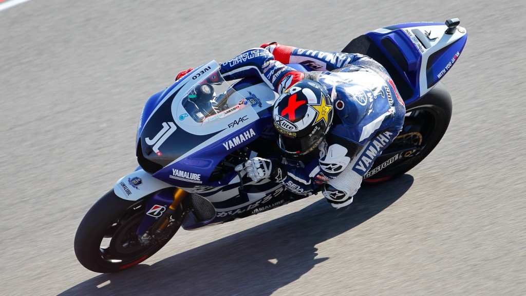 Jorge Lorenzo, Yamaha Factory Racing, MotorLand Aragón FP1