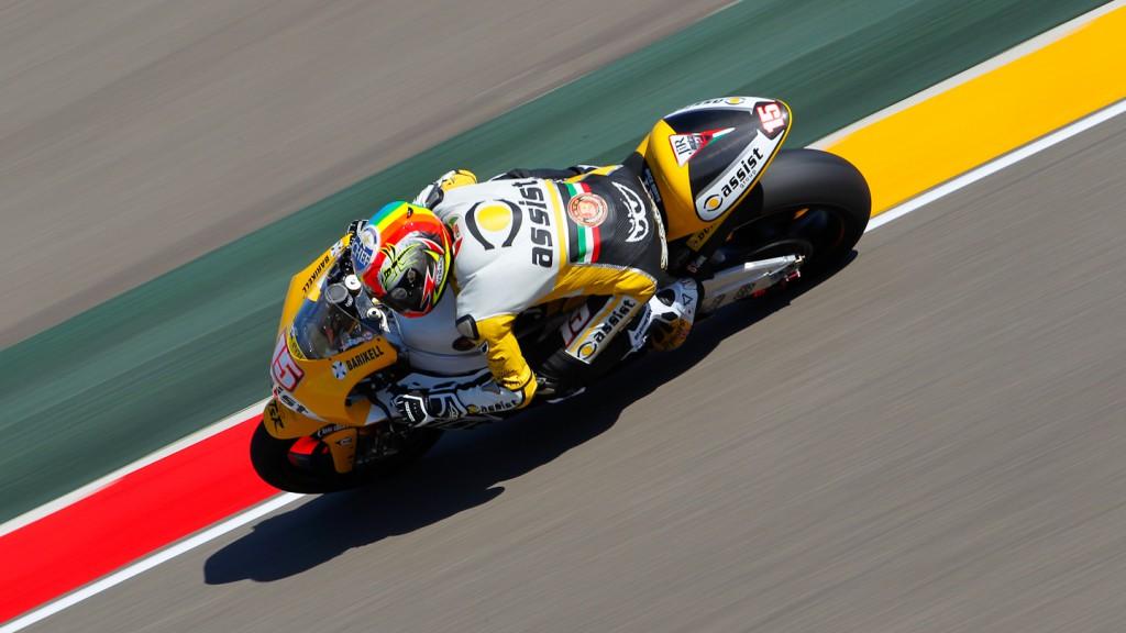 Alex de Angelis, JiR Moto2, MotorLand Aragón FP1